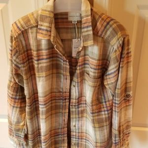 American Eagle Outfitters Tops - American Eagle distressed flannel shirt